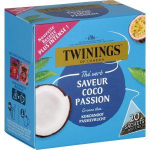 Τσάι Πράσινο Με Καρύδα Και Φρούτα Του Πάθους Twinings Green Tea With Coconut And Passion Fruit 20 Tea Sachets 32g