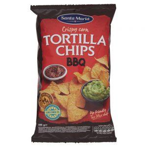 Τσιπς Τορτίγιας Με Γεύση Μπάρμπεκιου Santa Maria Tortilla Chips Barbeque 185g