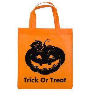 Σακούλα Με Σχέδιο Κολοκύθα Για Halloween Trick Or Treat Bag With Pumpkin Design 28x32cm