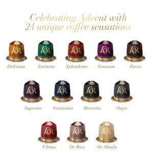 Κάψουλες Espresso Ημερολόγιο Χριστουγέννων L'Or Advent Calendar Συμβατές Με Μηχανή Nespresso 24 Aluminium Capsules Compatible With Nespresso 124,8g