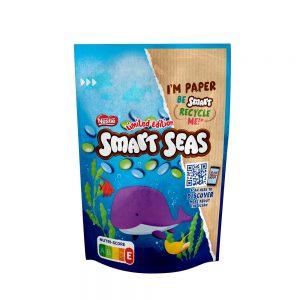 Κουφετάκια Γεμιστά Με Σοκολάτα Γάλακτος Nestle Smarties Limited Edition Smart Seas 140g