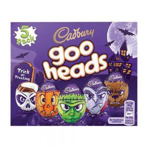 Halloween Cadbury Maxi Σοκολατένια Αυγά Κεφάλια Cadbury Goo Heads 200g