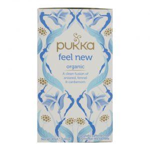 Μείγμα Βιολογικών Βοτάνων Pukka Organic Feel New Naturally Caffeine Free 20 Herbal Tea Sachets 40g