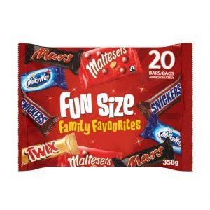 Σοκολάτες Μίνι Συλλογή Mars Funsize Family Favourites 358g
