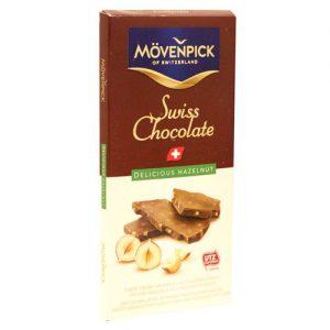 Σοκολάτα Γάλακτος Ελβετική Movenpick Swiss Milk Chocolate Delicious Hazelnut 70g