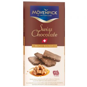 Σοκολάτα Γάλακτος Ελβετική Movenpick Swiss Milk Chocolate Maple Walnut 70g