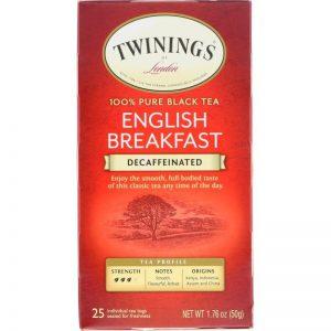 Τσάι Μαύρο Twinings English Breakfast Decaffeinated Tea Medium 25 Tea Bags